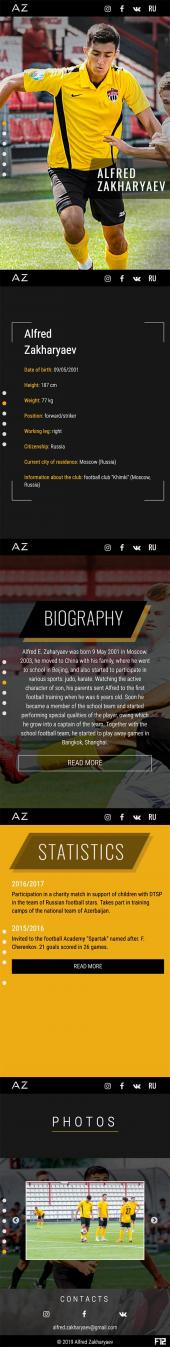 Mobile version of The site of the football player Zakharyaev